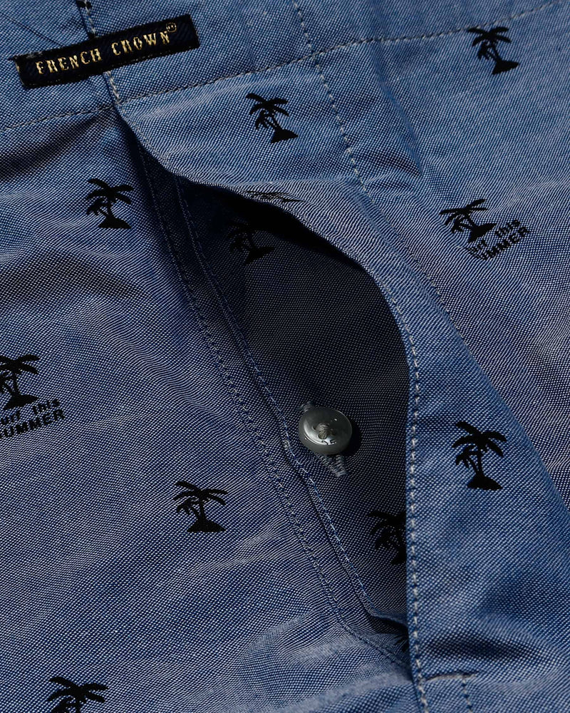 Grey floral Print and Denim Coconut tree Printed Premium Cotton Boxers