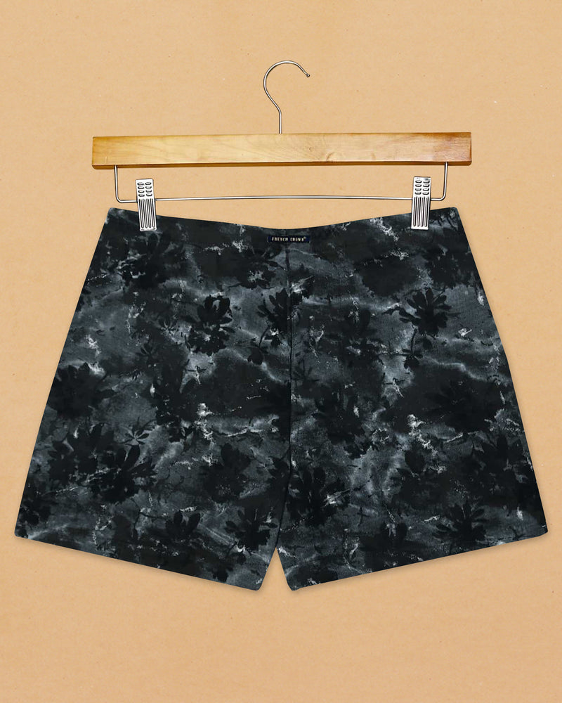Black Printed and Sky Printed Premium Cotton Boxers