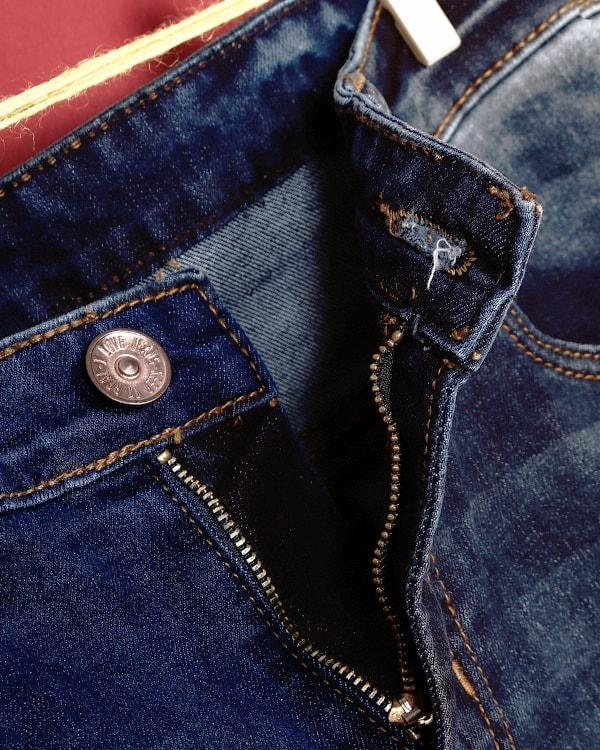 Mid Blue Acid washed Stretchable Jeans