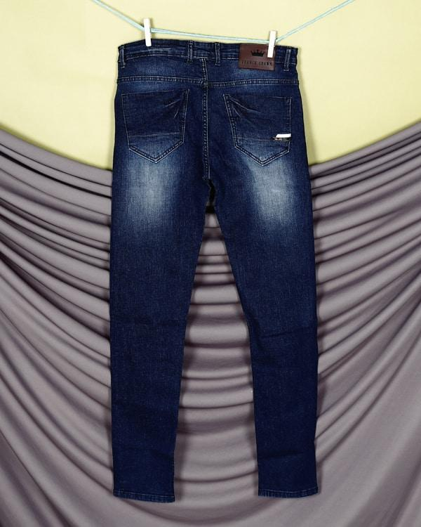 Mid Blue Mid-Rise Clean Look Stretchable Jeans