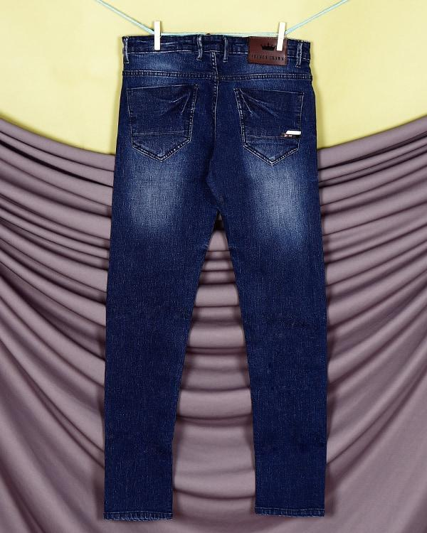 Liam - Mid Blue Mid-Rise Clean Look Stretchable Jeans