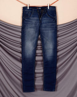 Jason- Brownish Blue Mid-Rise Clean Look Stretchable Jeans