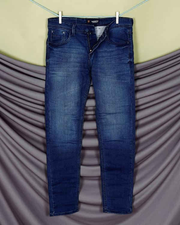 Zion- Mid Blue Heavy weight Clean Look Stretchable Jeans