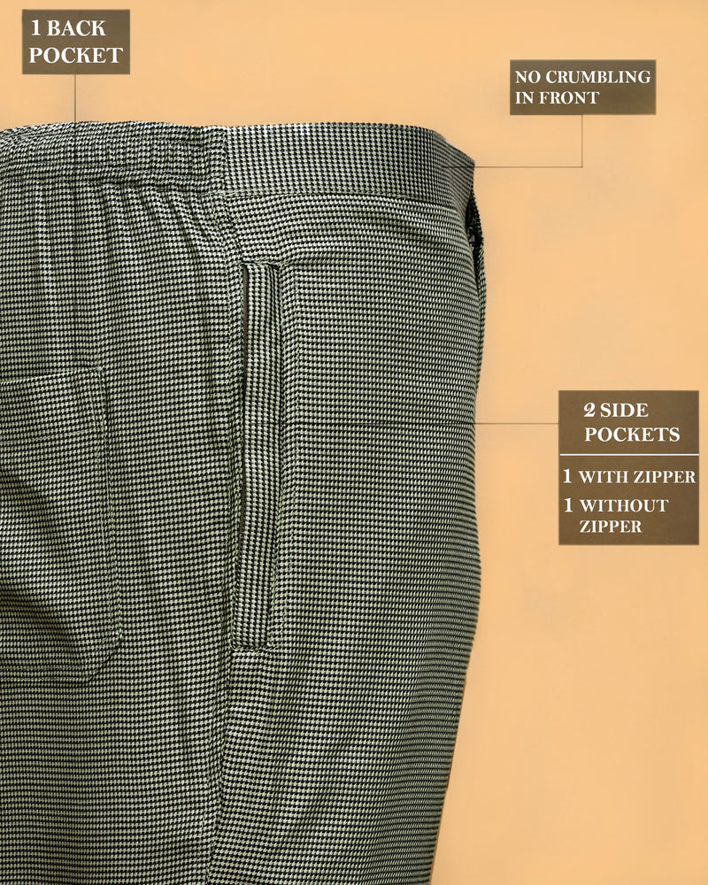 Black Cotton and Green Lounge Pants