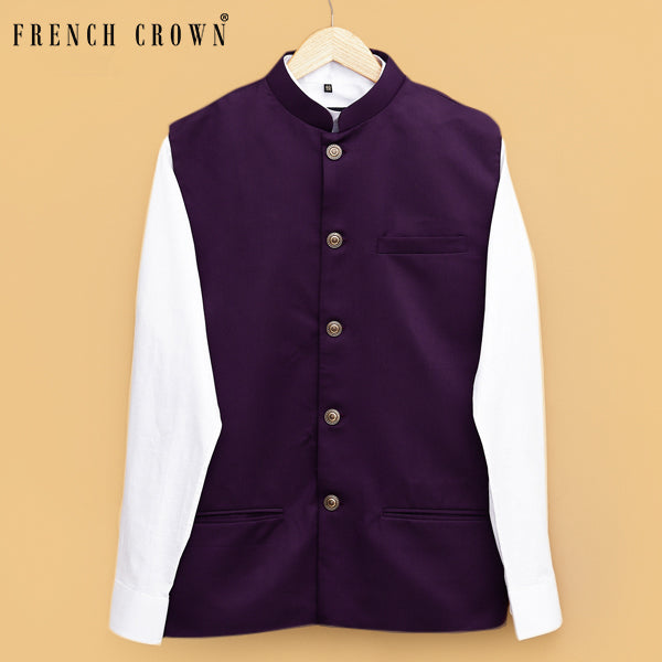 Purple Nehru Jacket