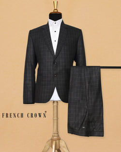 Charcoal Windowpane Suit