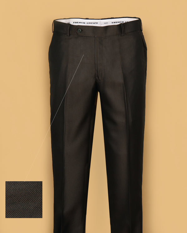 Walnut Brown Regular fit Tere-Rayon Formal Pant