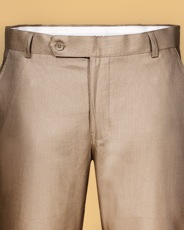 Bedford Beige Regular fit Cotton Pant