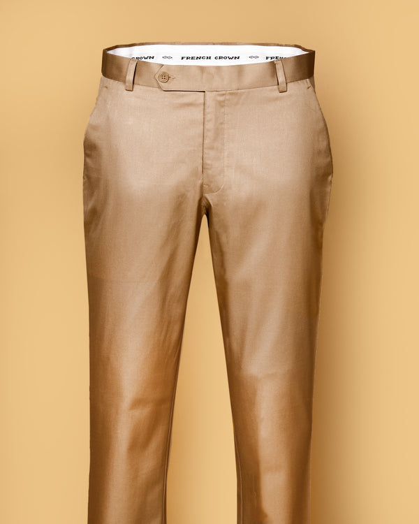 British Tan Regular fit Cotton Pant