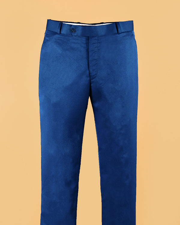 Sappier Blue Regular fit Tere-Rayon Formal Pant