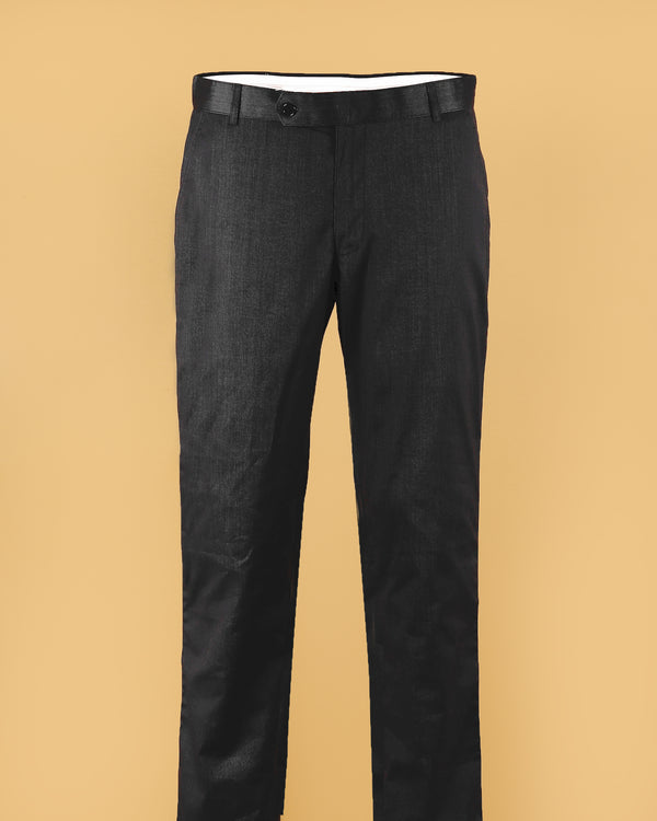 Black Micro striped  Regular fit Cotton Pant