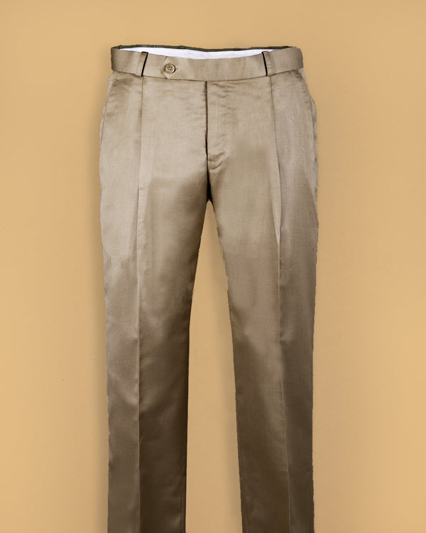 Tan Tere-Rayon Formal Pant