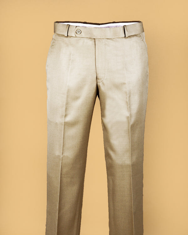 Biscotti cream Regular fit Tere-Rayon Formal Pant