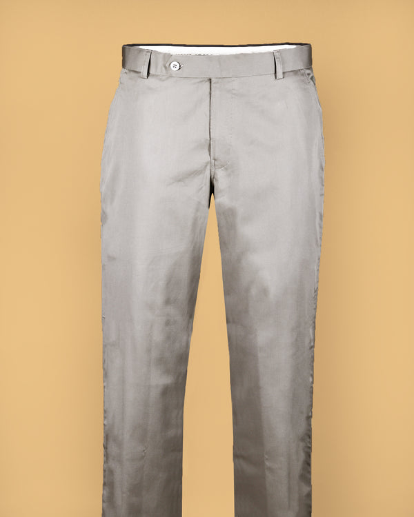 Grey Regular fit Cotton Pant