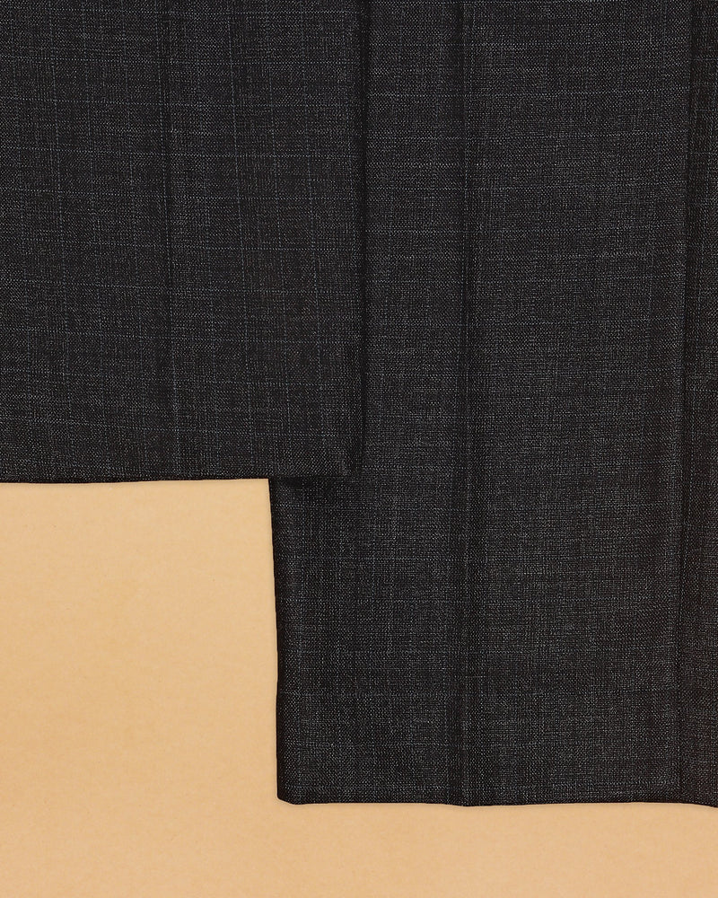 Grey subtle Windowpane Formal Pant