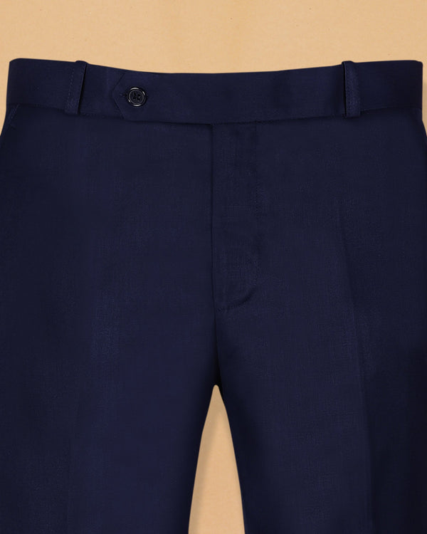 Royal Blue Terry-Rayon Formal Pant