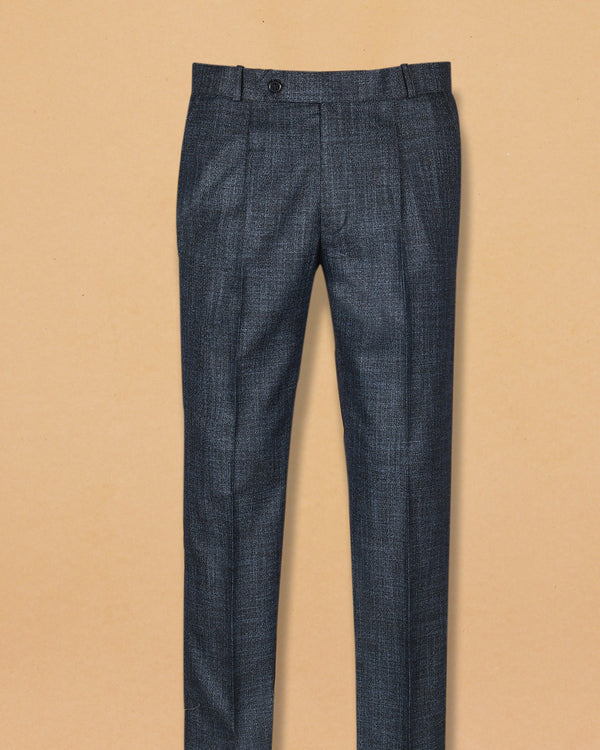 Iron Grey with slubbed Texture Terry-Rayon Formal Pant