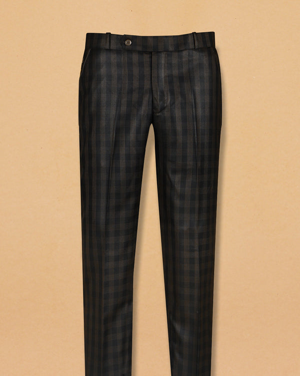Coffee striped Formal Pant