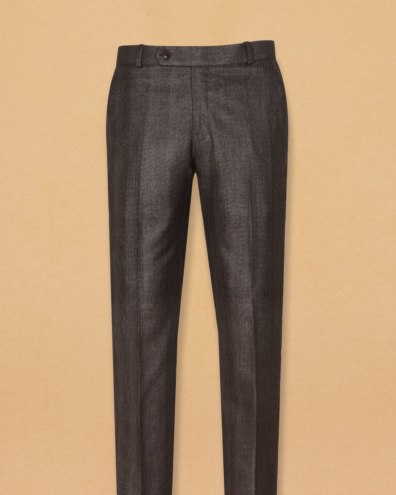 Chestnut Brown Plaid Trouser