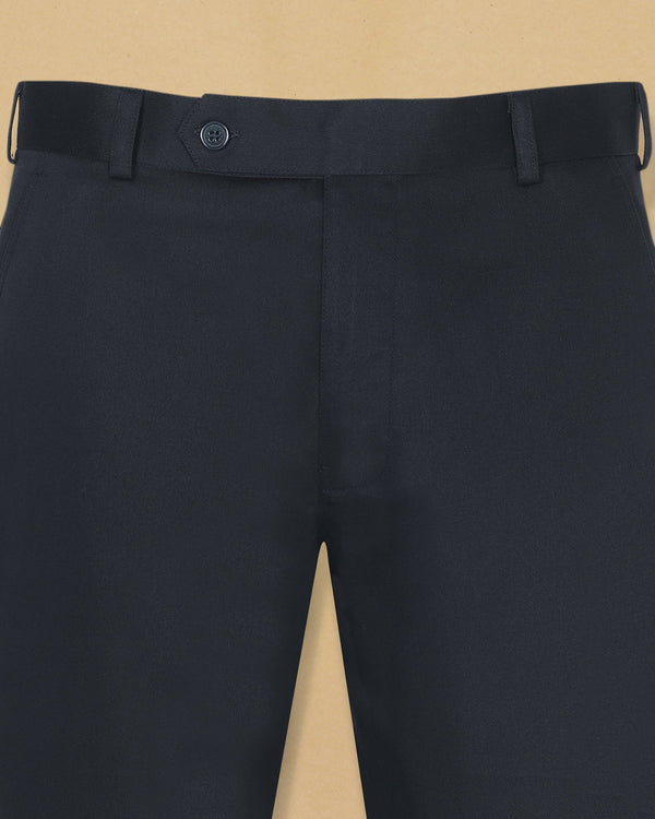 Navy Heavyweight Regular fit Cotton Pant