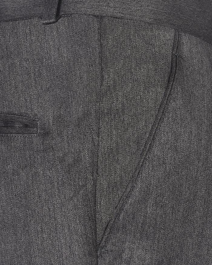 Slate Grey Wool flannel Pant