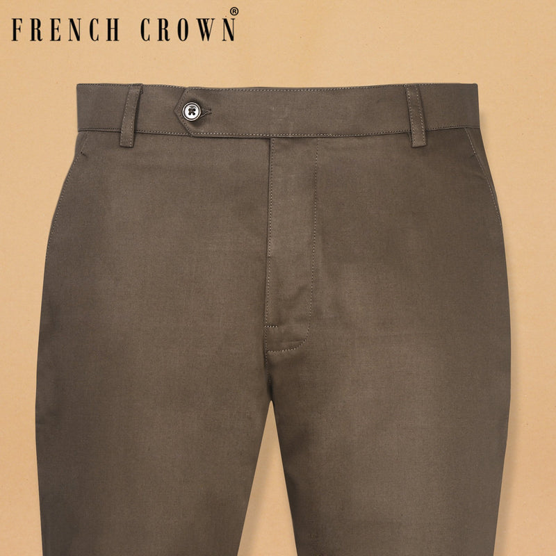 Cedar Brown lightweight Regular fit Cotton Chino