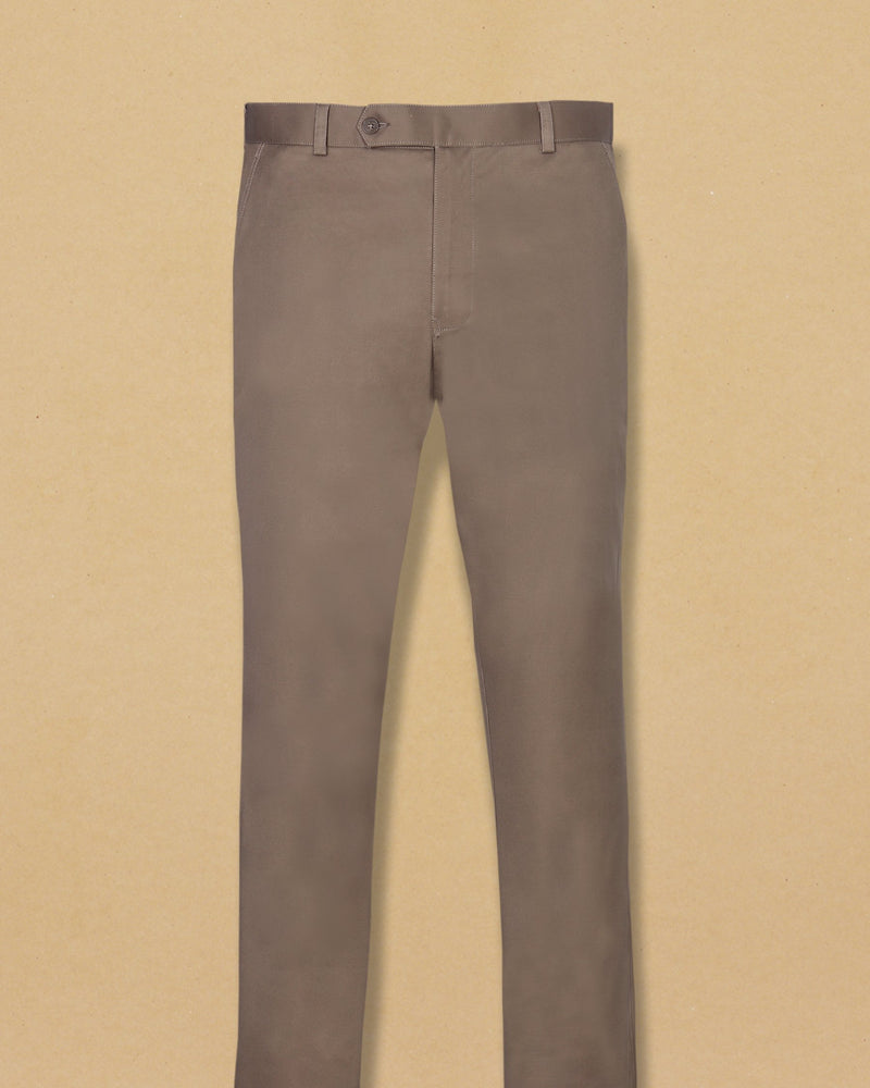 Caramel Brown Regular fit Cotton Pant