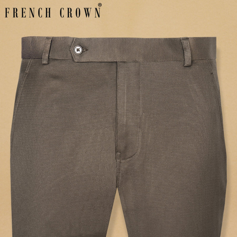 Chestnut Brown Regular fit Cotton pant
