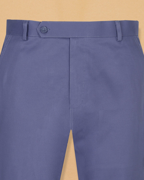 Steel Blue Heavyweight Regular fit Cotton Chino