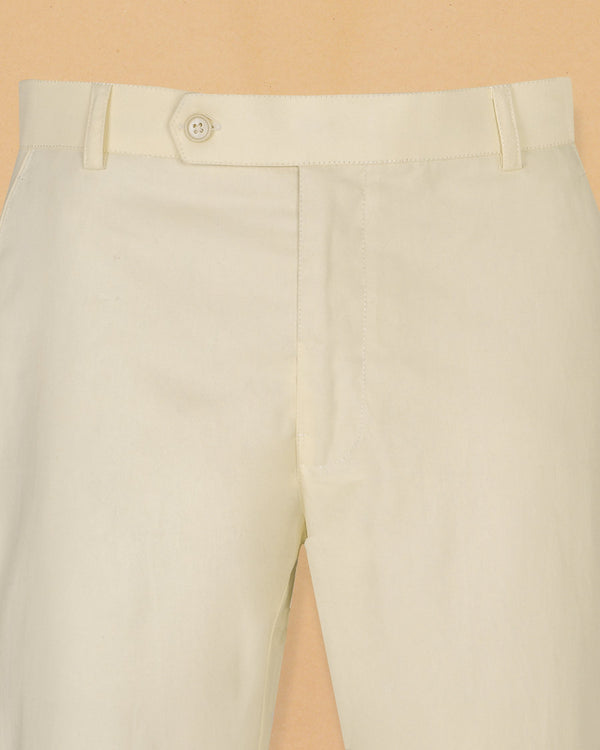 Buttery Cream Regular fit Cotton Chino