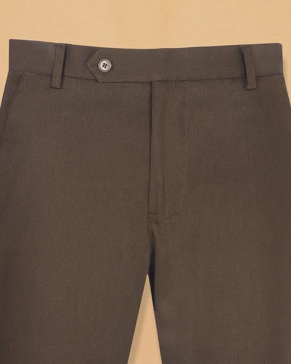 Mocha Brown Heavyweight regular fit Cotton Pant