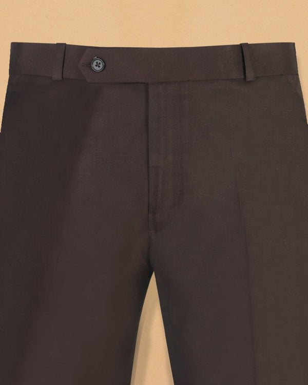 Reddish Brown Formal Pant