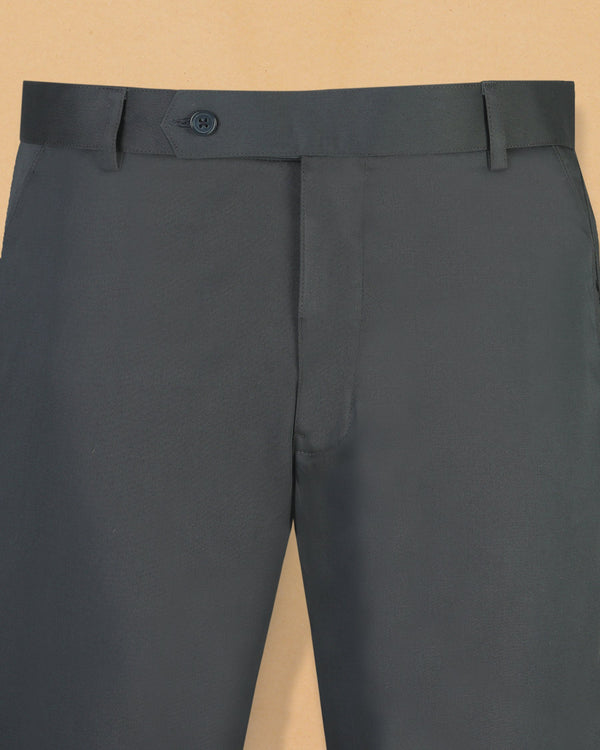 Lead Grey Cotton Pant