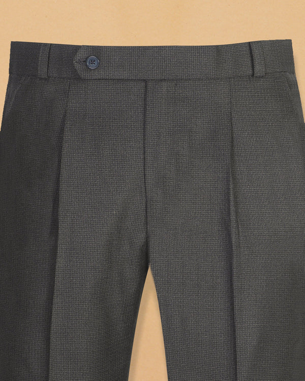 Charcoal Textured Wool Pant