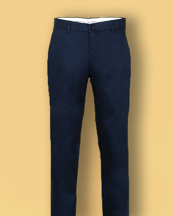 Cobalt Blue Regular fit Cotton Chino