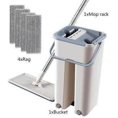MopMatic™ Floor Mop Set Automatic Bucket Microfiber Cleaning System - Giftigift