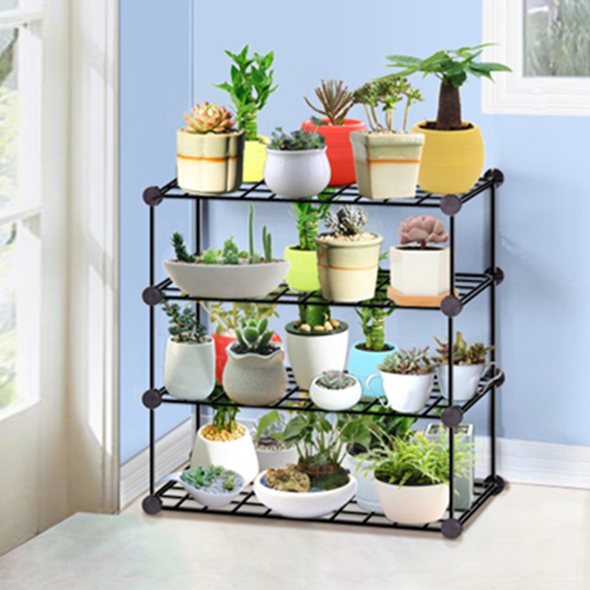3/4/5 Tier Iron Succulent Flower Pots Plant Stand Display Shelf Shoe Organizer Kitchen Storage Rack