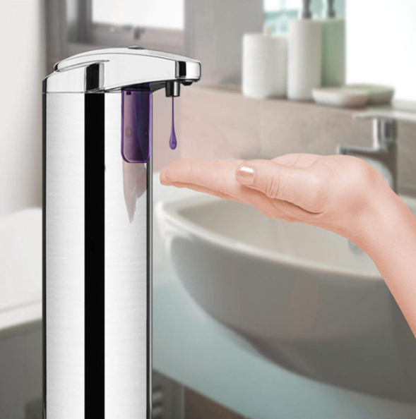 SafeKlenz Automatic Hand Soap Sanitizer Dispenser Touchless Stainless Steel With Motion Sensor