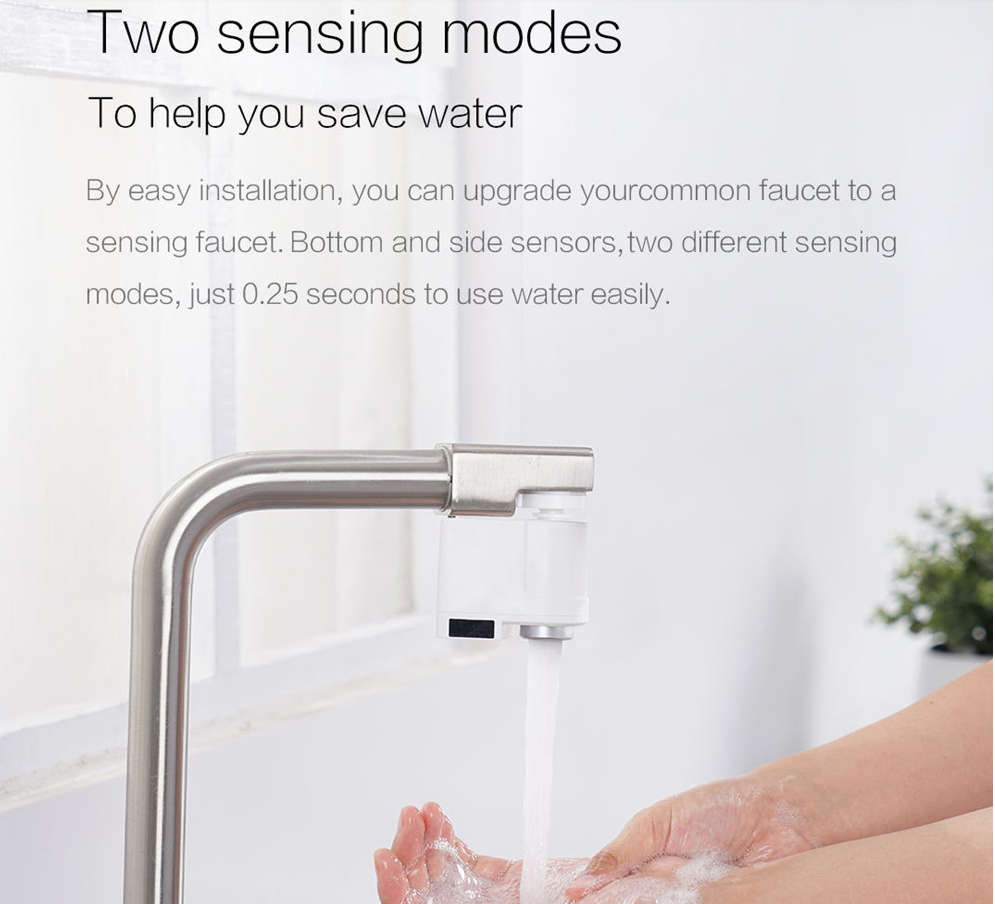 Jucam Touchless Kitchen Bathroom Faucet Tap With Smart Infrared Motion Sensor