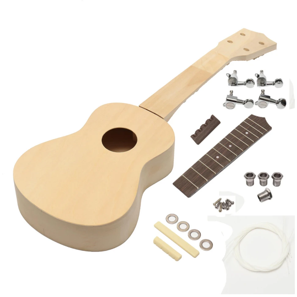 Jucam DIY Build Your Own Ukulele Guitar Kit 21 inch