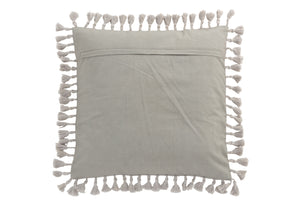 Coussin marocain floches velours gris