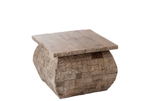 Table basse bois sculpté
