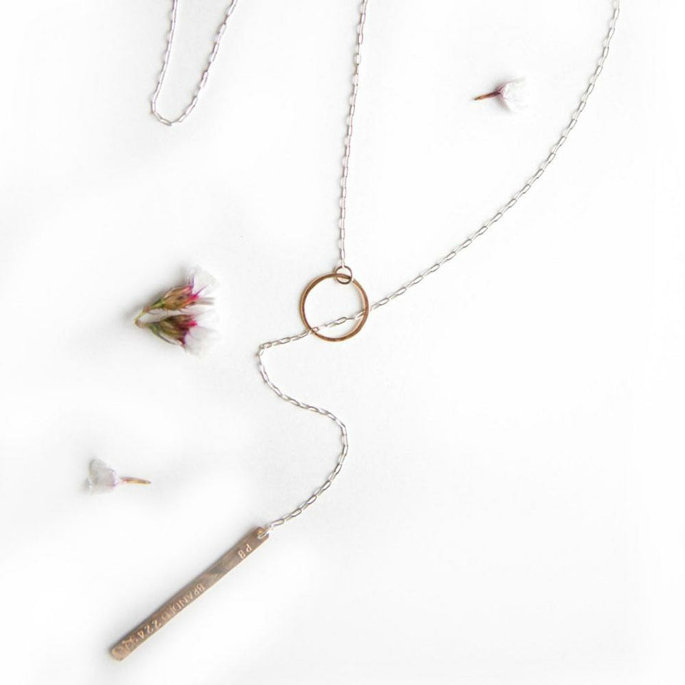 BRANDED Lariat Necklace