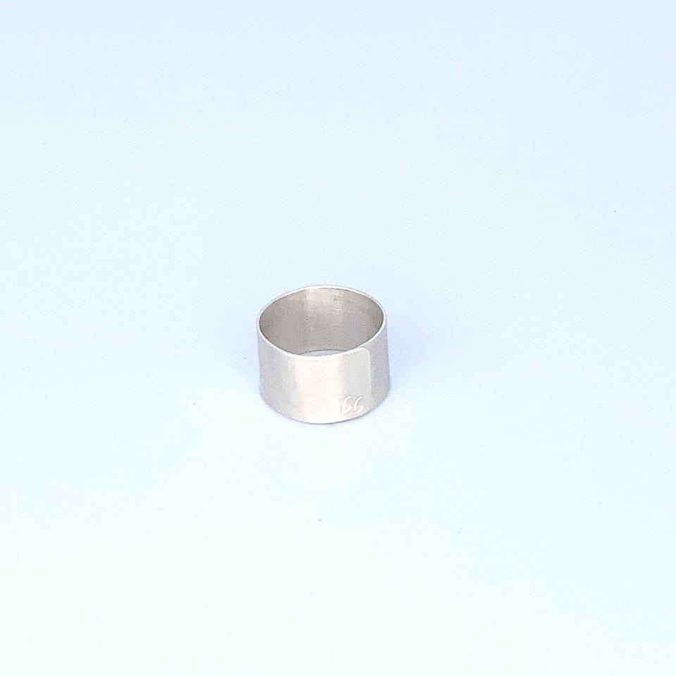 BRANDED Metal Survivor Initial Ring