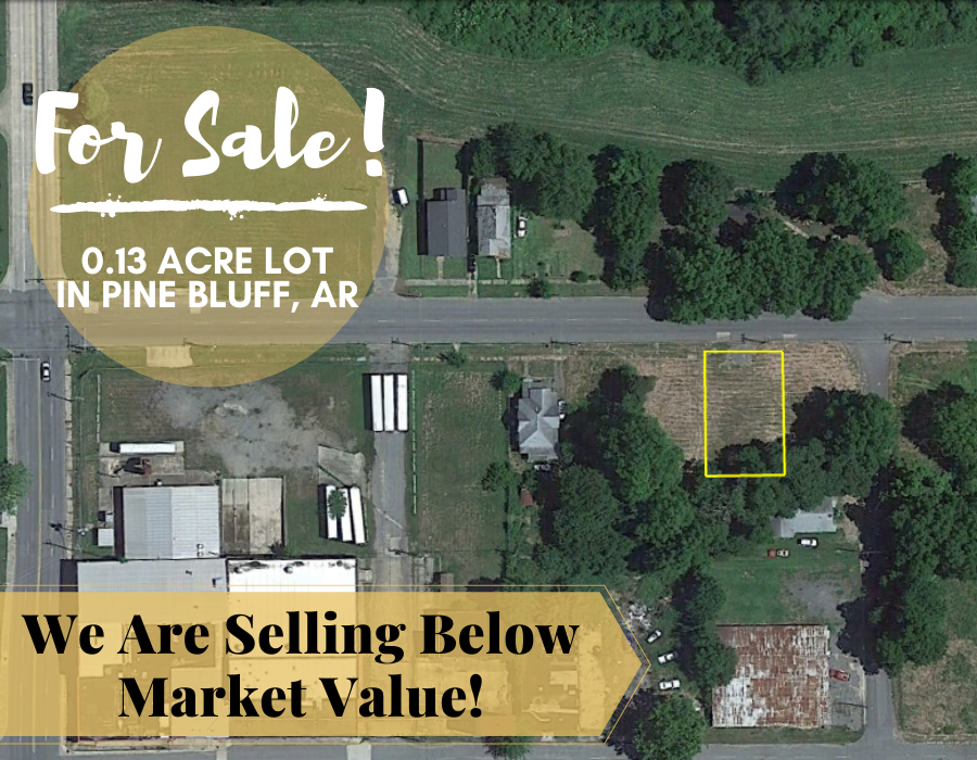0.13 Acre in Pine Bluff, Arkansas 72004 - Own for $75 Per Month (Parcel Number: 930-68551-000) - Once Upon a Brick Inc. Land Investments