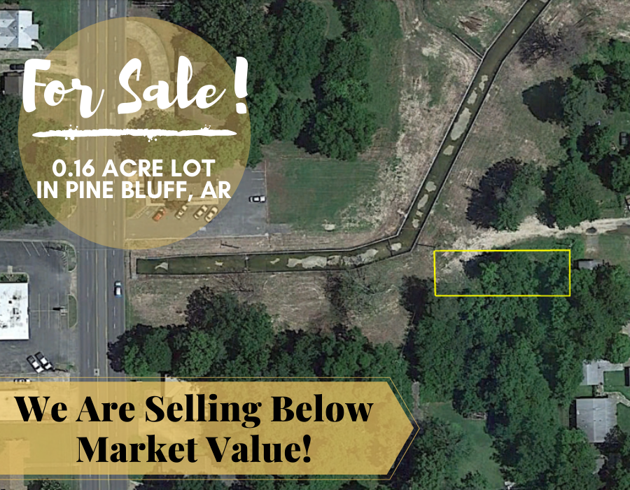 0.15 Acre in Pine Bluff, Arkansas 72004 - Own for $75 Per Month (Parcel Number: 930-09204-000) - Once Upon a Brick Inc. Land Investments