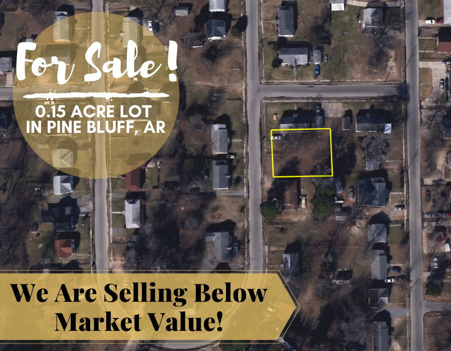 0.15 Acre in Pine Bluff, Arkansas 72004 - Own for $75 Per Month (Parcel Number: 930-61129-000) - Once Upon a Brick Inc. Land Investments
