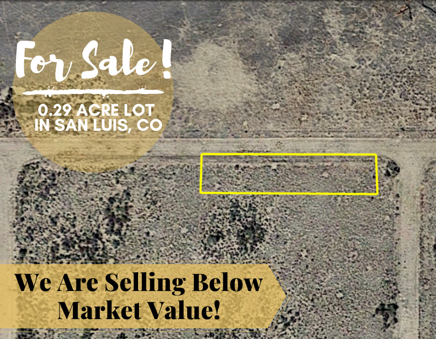 0.29 Acres in Costilla County, Colorado - $99 a Month for 60 Months - Once Upon a Brick Inc. Land Investments