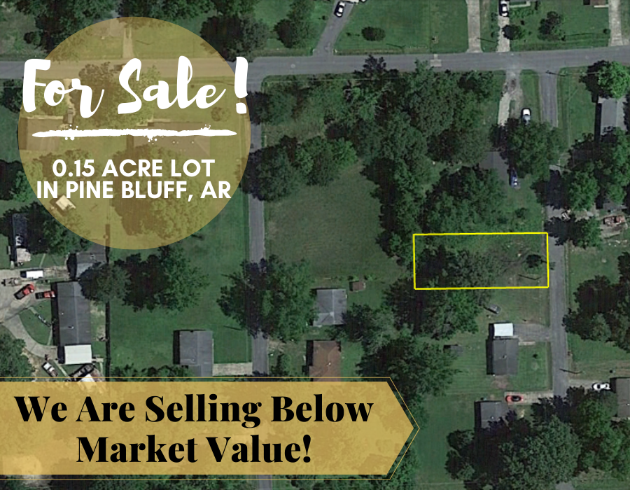 0.14 Acre in Pine Bluff, Arkansas 72004 - Own for $75 Per Month (Parcel Number: 930-63551-000) - Once Upon a Brick Inc. Land Investments