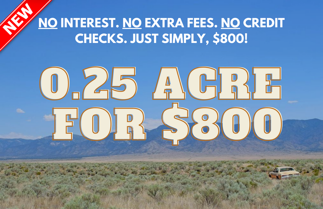 NEW! 0.25 Acre in Los Lunas, New Mexico (Lot: 16) - Own for $39 Down, $39 Per Month